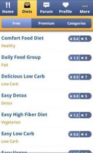 Aplicación android dieta