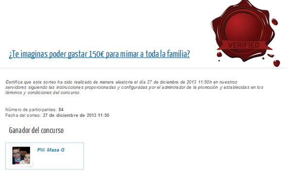 Ganador sorteo de un cupón de 150€ para gastar en Rosvel Parafarmacia.
