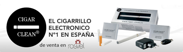 Cigarrillo electrónico Cigar-Clean, disponible en Rosvel Parafarmacia