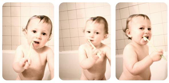 Cepillado de dientes infantil