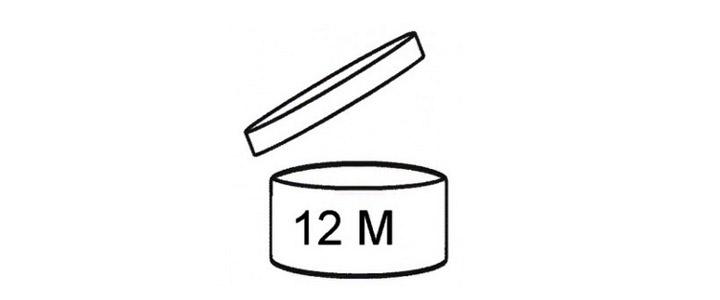 Símbolo que representa la fecha de caducidad de los cosméticos