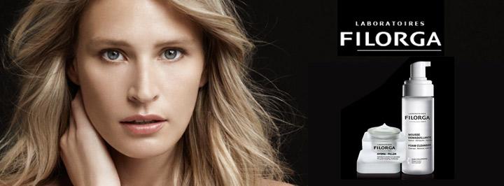 Imagen promocional de los productos cosméticos de la marca Filorga