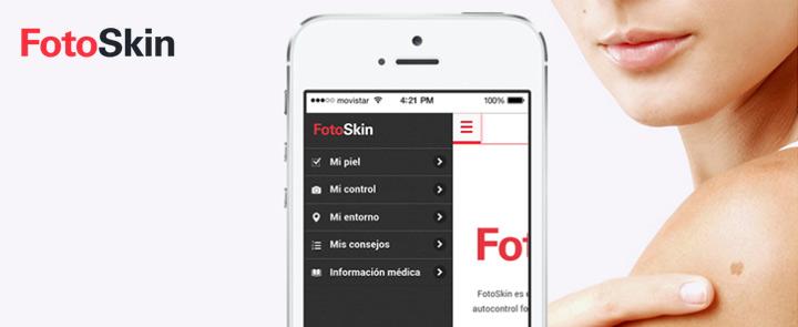 Imagen promocional de la app para la prevención del cáncer de piel FotoSkin