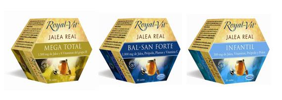 Tres de los productos de jalea real Dietisa