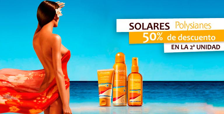 Promoción en protectores solares Polysianes en Rosvel Parafarmacia