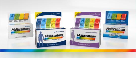 Gama de productos Multivitamínico Multicentrum
